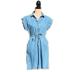 ☀️4/25 Old Navy Polka Dot Denim Dress